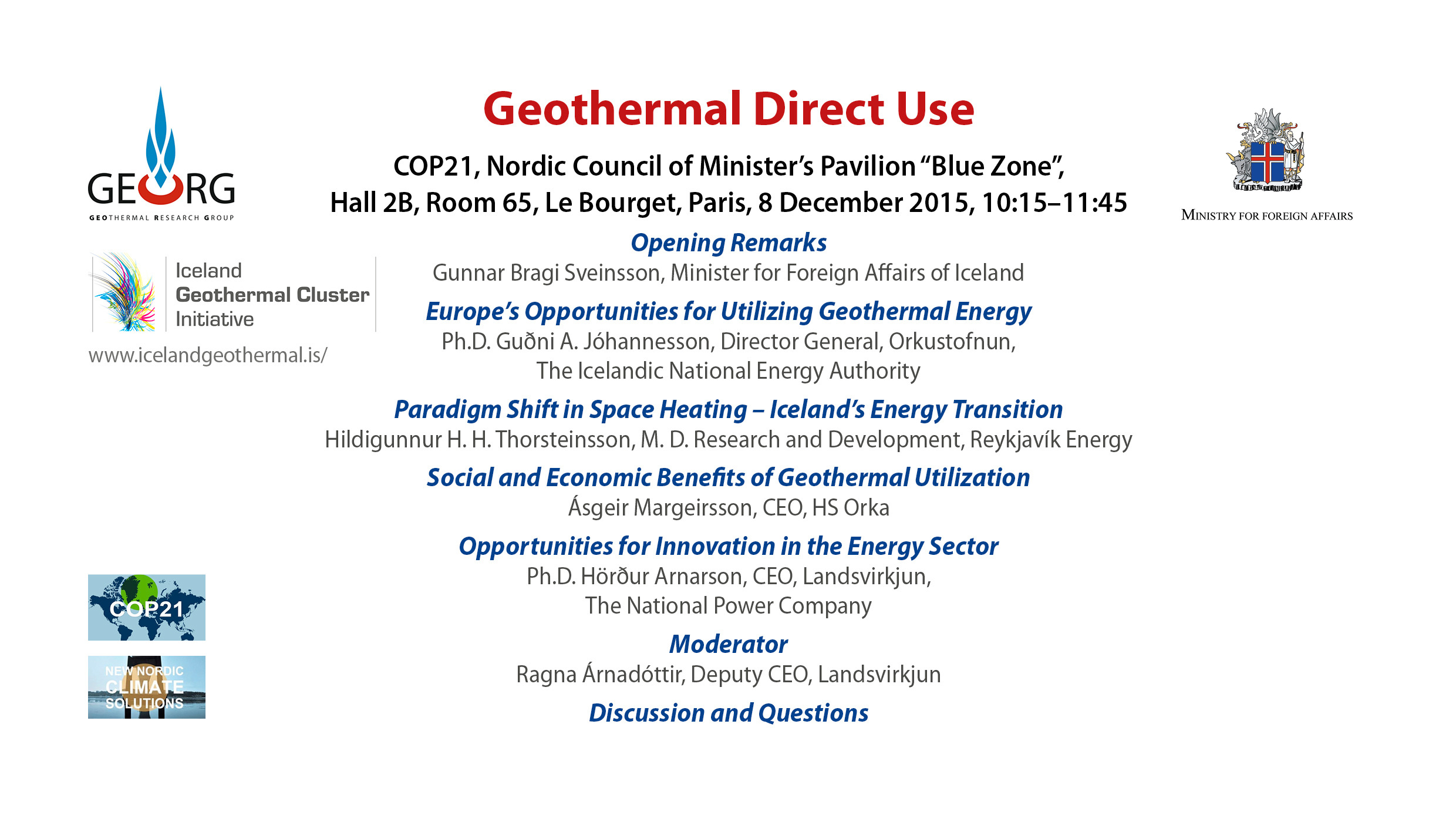 Geothermal direct use